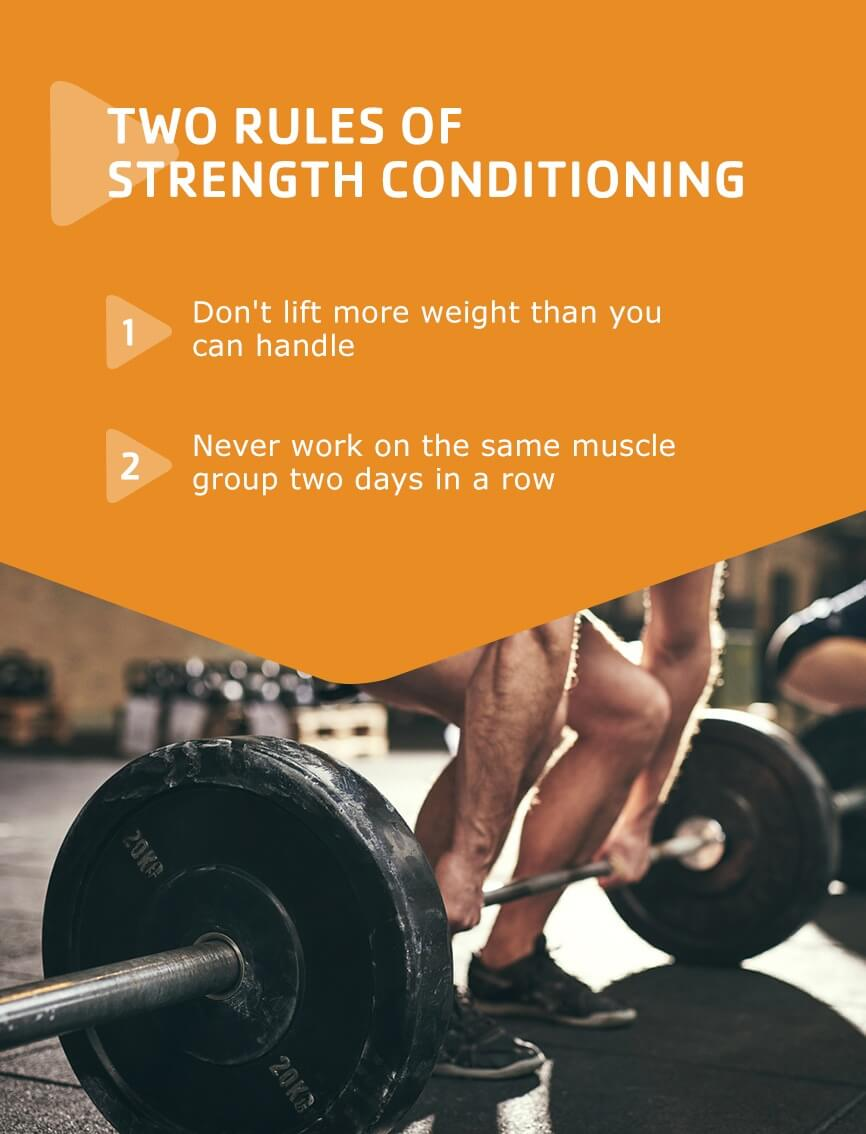 rules of strength conditioning for beginners