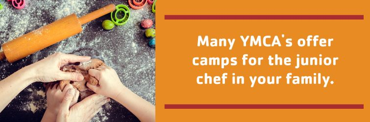 many of the ymca's location offer camps just for the junior chef in your family