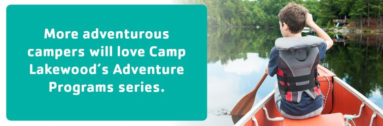 more adventurous campers will love camp lakewood's adventure program series