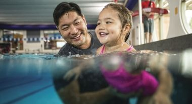 Parent and child swim lessons